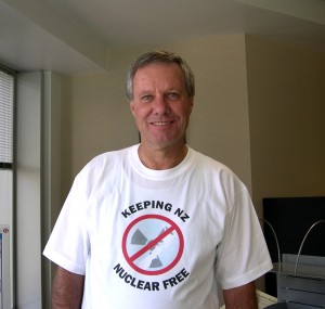 Keith wears Nuclear Free!