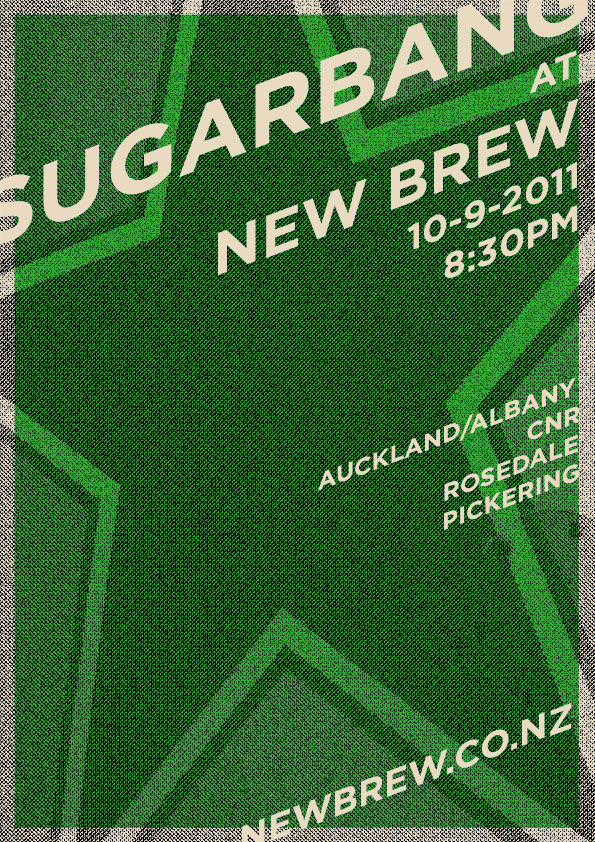 SugarBang Poster for the New Brew Gig 10 Sep 2011